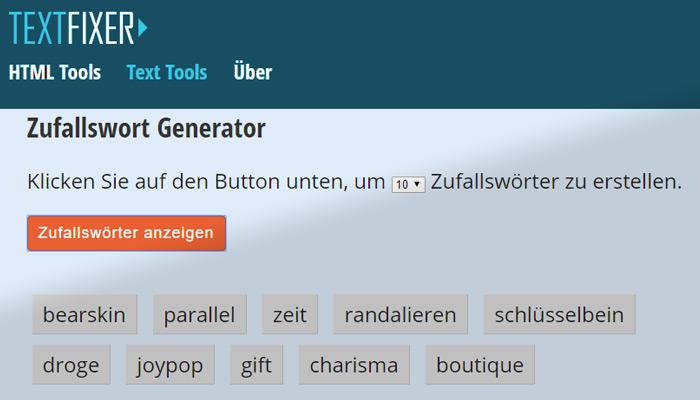 Wörter kombinieren generator